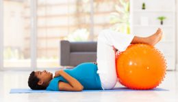 pregnant african woman workout