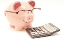 Pink Piggy Bank With Calculator